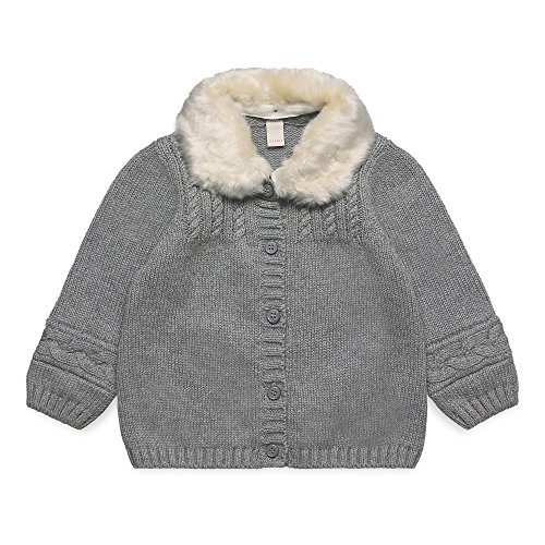 ESPRIT KIDS Baby-Mädchen RK18021 Strickjacke, Grau (Mid Heather Grey 260), 86 -