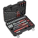 Meister Werkzeugkoffer 59-teilig ✓ Montage-Werkzeug-Set ✓ Für Haushalt, Garage & Werkstatt | Profi Werkzeugkoffer befüllt | KFZ-Werkzeugkiste | Werkzeugbox komplett mit Werkzeug | 8973200