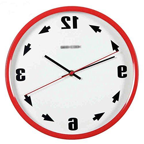 Metall präzise Wanduhr --- Zeit Gegenstrom Gegenstrom Metall Wanduhr --- 1 x AA Batterie (nicht enthalten) ( Farbe : 4 )