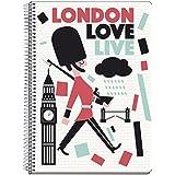 Grupo Erik Editores London Colours - Cuaderno tapa dura A5, 14.8 x 21 cm