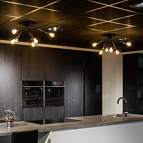 QAZQA Art Deco Moderne Deckenleuchte/Deckenlampe/Lampe/Leuchte schwarz 6-flammig - Sputnik/Innenbeleuchtung/Wohnzimmerlampe/Schlafzimmer/Küche Stahl Rund LED geeignet E27 Max. 6 x 40 Wat