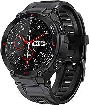 ANSUNG Smartwatch Uomo Orologio Fitness Impermeabile 50 m, Chiamata Bluetooth, Cardiofrequenzimetro da Polso,