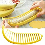 Banana Slicer , Hunpta Practical Banana Cutter Fruit Slicer kitchen Gadgets Tools (Yellow)