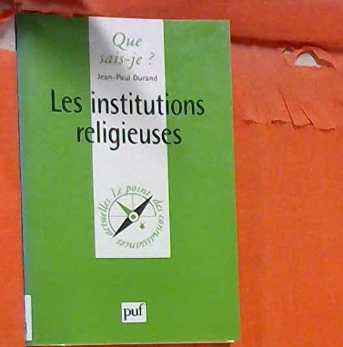 Les Institutions religieuses