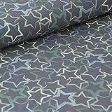 Pepelinchen Soft-Shell Sterne auf Khaki/grau