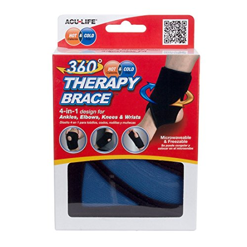 AcuLife 360 Hot/ Cold Therapy Brace fits Ankle/ Elbow and Knee (Brace 360)