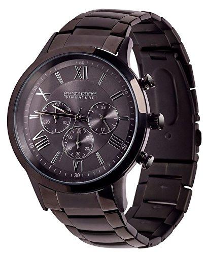 Jorg Gray JGS3590 - Mouvement Cristal de roche - Affichage Chronographe - Bracelet Acier inoxydable Gris et Cadran Gris - Homme