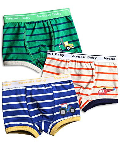 Vaenait Baby 2-7 Years Kids Boys Underwear Boxer 3-Pack Set Boxer Vehicle L