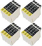 16 Compatible T0711 Black Epson Ink Cartridge for Epson Stylus B40w BX300f BX310fn BX410 BX510 BX600fw BX610fw D78 D92 D120 DX400 DX4000 DX4050 DX4400 DX 4400 DX4450 DX5000 DX5050 DX6000 DX6050 DX7000f DX7400 DX7450 DX8400 DX8450 DX9400f S20 S21 SX100 SX105 SX110 SX115 SX200 SX205 SX209 SX210 SX212 SX215 SX218 SX 218 SX400 SX405 SX405wfi SX410 SX415 SX510w SX515w SX600fw SX610fw Printers - Compatible Epson Cheetah Inks T0711 Black TO711 E- 711 ***by Printer Ink Cartridges***