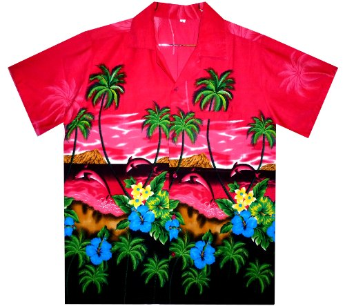 Funky Chemise Hawaienne XS-6XL Rose