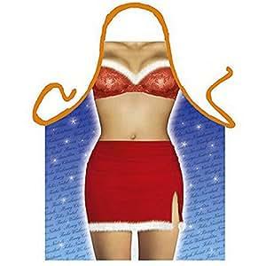 Tobeni tablier sexy schurz-noël-un cadeau amusant ensemble de lingerie-iNSTRUMENT