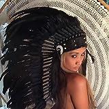 Federhaube Indianer Kopfschmuck, War bonnet Indian Headdress Halloween, Karneval Little Big Horn