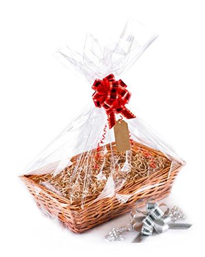 Este es un kit para preparar una cesta de regalo completa.Todo lo que falta es el regalo en sí, todos los ingredientes para hacer un regalo de calidad están presentes.Todas las dimensiones son aproximadas.