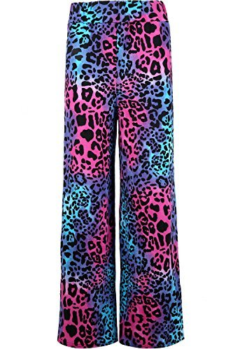 Colourful Animal Print Flared Palazzo Pants. Sizes 8 to 14.