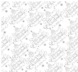 3m x 80cm cellophane Christmas White Script/qualità fiorista Script design tagliati su rullo grande e piegata per affrancatura