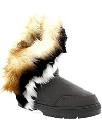14f9ab7fc5 Holly Damen Short Tassel Rabbit Pelz Gefüttert Winter Kaltes Wetter Schnee  Regen Stiefel