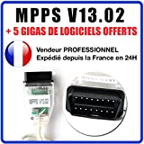 ★ exclusivite ★ Schnittstelle MPPS V13.02 + SOFTWARE MPPS V16 Flash Tuning Frame KWP
