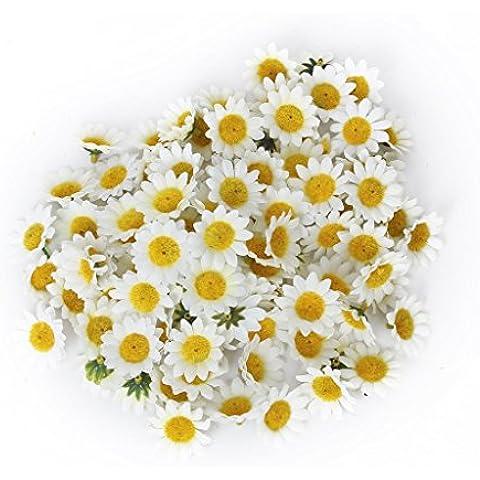 100x Flores De La Margarita De Gerbera Artificial Cabezas Para La Fiesta De La Boda De Bricolaje -