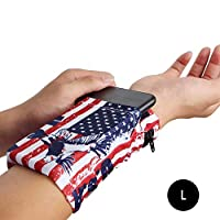 terferein Men Women Sports Mobile Phone Arm Bag Running Hand Bag Wrist Bag Double Side Wrist Wallet Pouch Wrist Support Pocket For Running, Fitness, Yoga, Horse Riding And Other Sports.