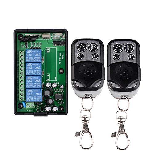 4kanäle 220VAC 230VAC Universal Funk Fernbedienung+ Empfänger lernfähig Funkschalter Relaisausgang Potentialfrei Hausautomation/Industrie-Automation für Rolladen Ankerwinde Garagentor Kran Regler -