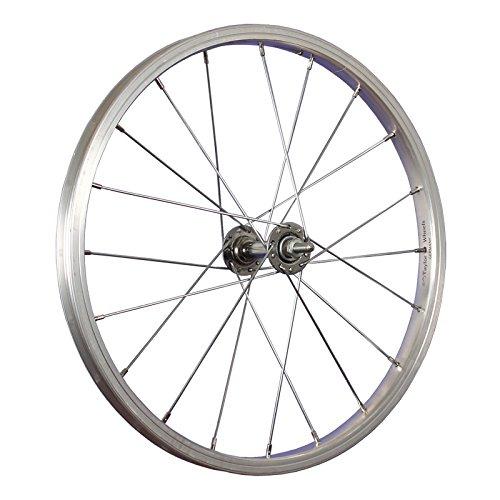 Taylor-Wheels 18 pulgadas rueda delantera bici buje Nirosta 355-19 plateado