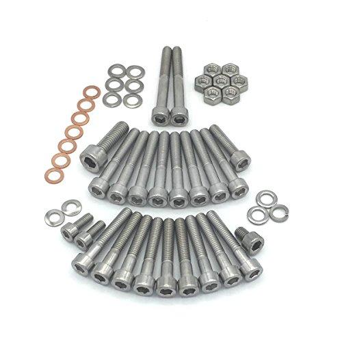 Simson S51 SR50 SR80 Motor Schrauben Satz Zylinderschrauben mit Innensechskant aus Edelstahl, 49 teilig