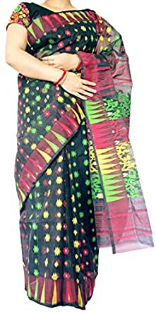 Swastik Saree Cotton Silk Saree (Jam_Bsb_Black)