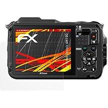 atFoliX Folie für Nikon Coolpix AW120 Displayschutzfolie - 3 x FX-Antireflex-HD hochauflösende entspiegelnde Schutzfolie