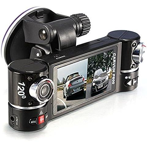 Coche DVR Dash Cam, C 'Est, de 2,7pulgadas Nuevo coche de doble lente cámara vehículo DVR grabador de vídeo Dash Cam dos lentes
