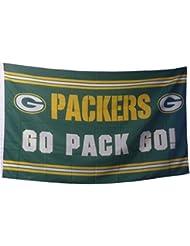 Verde Bay Packers 3x 5pies bandera Go, Go poste o colgar en la pared–NFL