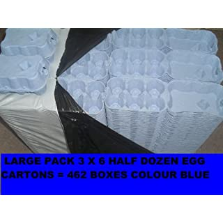 BLUE EGG CARTONS LARGE PACK x 462 BOXES CARDBOARD EGG PACKAGING