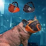 JYHY - Bozal Corto para Perro con Forma de Bulldog de Malla Transpirable Ajustable para mascarar, Cortar y Entrenar a Perros