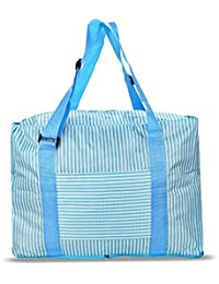 Hannea Large Capacity Stripe Style Storage Folded Travel Bag