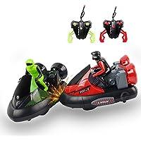 FSTgo® Juego de 2 Stunt Remote Control RC Battle Bumper Cars Vehículos eléctricos de alta velocidad Battle Racing con drivers para niños