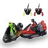 FSTgo® Set von 2 Stunt Fernbedienung RC Battle Bumper Autos High Speed Elektro Battle Racing Fahrzeuge mit Treiber für Kinder Spielzeug