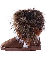 Minetom Damen Winter Schnee Stiefel Stiefeletten Warm Pelz Stiefel Schuhe