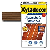 Xyladecor® Holzschutz-Lasur 2 in 1 Nussbaum 2,5 l - Wetterschutz | farbbeständig | Dünnschicht Lasur