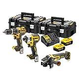 DeWalt Akku-Kombopack Set DCK384P2T,18Volt Werkzeug-Set, gelb/schwarz, 2x