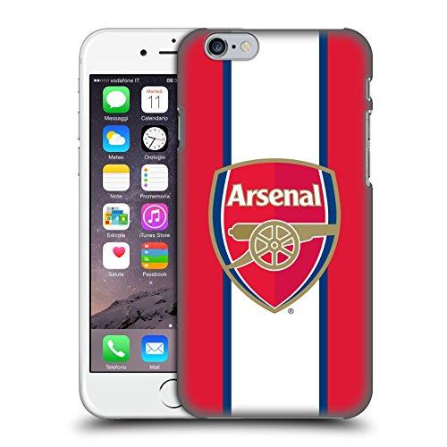 Ufficiale Arsenal FC Logo Nero 2016/17 Crest Cover Retro Rigida per Apple iPhone 5 / 5s / SE Strisce 3