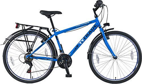26 Zoll Kinderfahrrad Cityfahrrad Kinder Jungen Herren City Fahrrad Bike Rad Jungenfahrrad 21 Gang Voltage Man BLAU TYT19-048