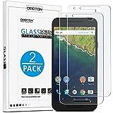 OMOTON Protector de Pantalla Cristal Templado Nexus 6P Vidrio Templado Protector de Pantalla Para Google/Huawei Nexus 6P [3D Touch Compatibles]con[9H Dureza][Alta Definicion][Garantía de por vida][Alta transparente]