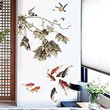 Aha Yo-China Wind Lotus Teich Wand Shop, Restaurant, Kleidung Shop, Schlafzimmer Bett Aufkleber, Wohnzimmer Sofa Hintergrund Wand Dekorative Wandaufkleber Diy