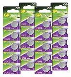GP CR2032 3V - Pack de 20 Pilas CR 2032 de Litio botón | Litio Puro, Mayor Rendimiento y duración...