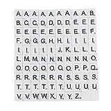 Madera para Scrabble juego completo de 100Scrabble letras para manualidades juegos de mesa bisutería Kit lacado azulejos blanco