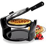 Duronic WM11 /SS Macchina per cialde waffle elettrica automatica 1100W – piastra waffle cialdiera crepes in acciaio INOX