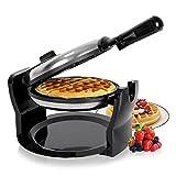 Duronic WM11/SS Macchina per cialde waffle elettrica automatica 1100W – piastra waffle cialdiera crepes in acciaio INOX