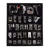 32pcs Domestic Sewing Machine Presser Foot Feet Kit Set