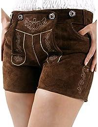 Almbock Trachtenlederhose Damen kurz oder extra-kurz   Viele Modelle in versch. Farben von Gr. 34-42   Ziegen-Leder, Rinds-Leder, Büffel-Leder, Nappa-Leder, Wildleder