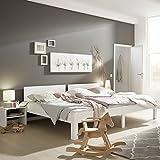 Ecolignum | Familienbett Sonora (#550270) | 270x200 cm. | Co-Sleeping Massivholzbett Buche Vollholz | Weiß | Super-Size Bett