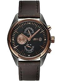 JBW  J6300A - Reloj de cuarzo para hombre, con correa de cuero, color marrón